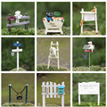 Dog Climbing Signpost Animal Miniature Fairy Garden Home Houses Decoration Mini Craft Micro Landscaping Decor DIY Accessories