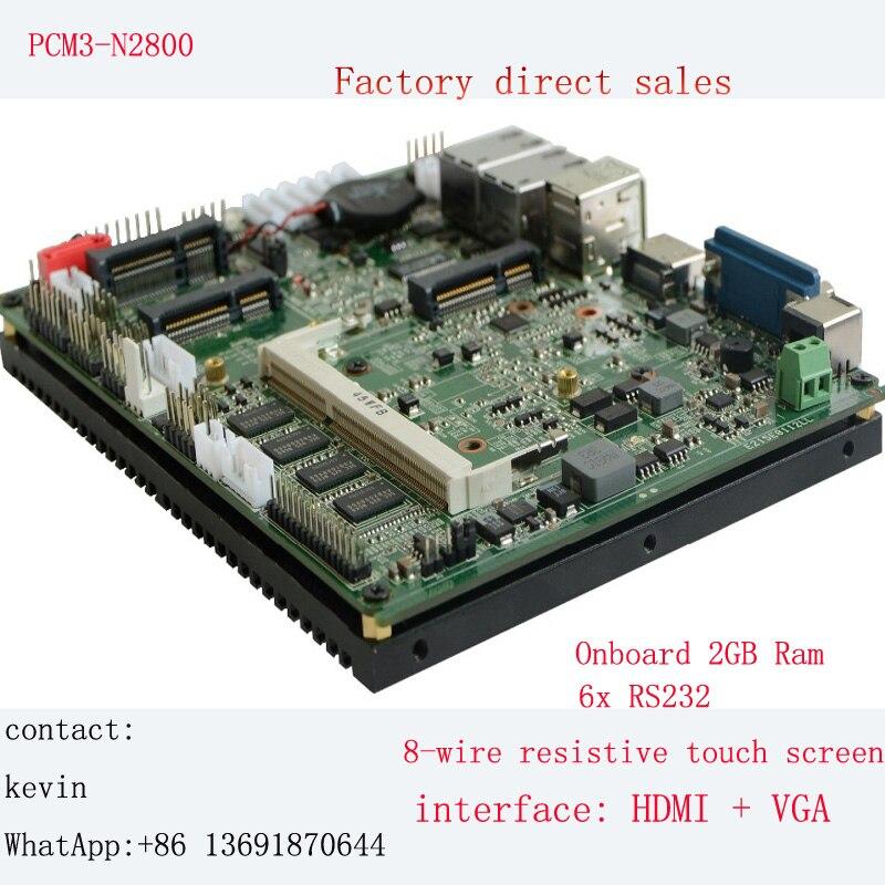 Industrial Motherboard Dual Lan 6 RS232 & 2 Lan Intel Atom N2800 Processor Fanless Mainboard