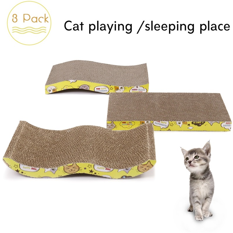 Pet Cat Furniture Cat Scratching Board 3 Different Design Cardboard Cats Scratching Mat With Catnip Scratcher For Kitten Kitty