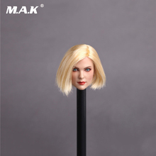 1/6 Scale GC006 C Style Womens Head Sculpt with Curly Short Blond Hair for 12 Inches Figures Bodies 1 6 scale kt005 female head sculpt long hair model toys for 12 inches women bodies figures