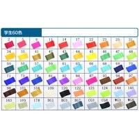 60 Colors Touch Mark marker paint marker pens Graphic student design Black