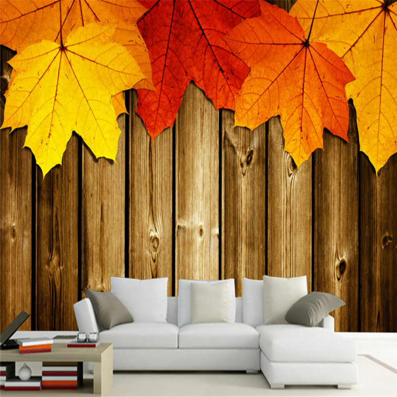 custom modern 3d high quality non-woven wallpaper wall mural maple leaf photo living room tv sofa background wall home decor custom 3d room mural wallpaper non woven wallpaper senery red maple forest photo living room tv backdrop bedroom photo wallpaper