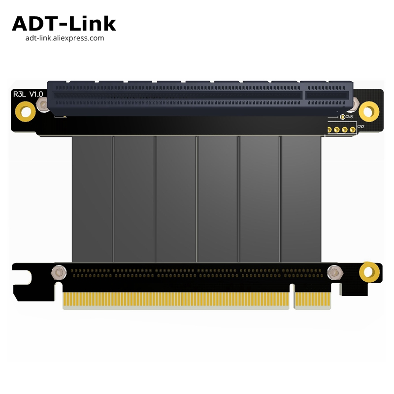 Gen3.0 PCI-E x16 To x16 3.0 male to female Elbow Left Angled Riser Cable 20cm 25cm PCI Express pcie 16x pci e Extender risers pci express pci e 16x male to female extender ribbon cable for 1u 2u grey page 4