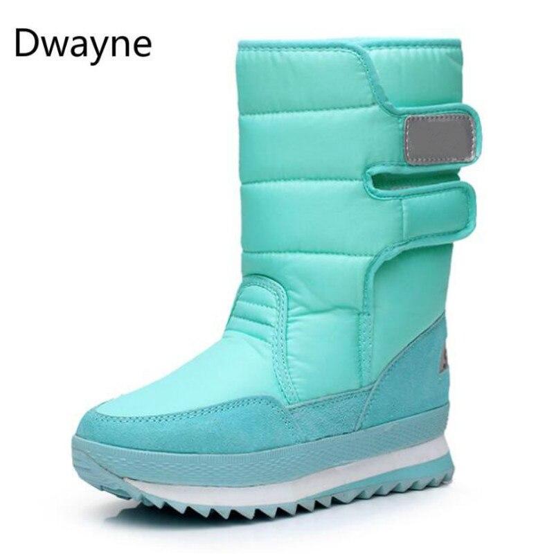 Dwayne Neve Botas 2018 Marca Mulheres Botas de Inverno Sapatos Mãe Antiderrapante Flexível À Prova D' Água Mulheres Moda Botas Casuais Plus Size