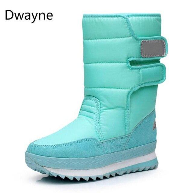Dwayne Snow Boots 2018 ยี่ห้อผู้หญิงฤดูหนาวรองเท้ารองเท้า Antiskid กันน้ำยืดหยุ่นแฟชั่นสบายๆพลัสขนาด