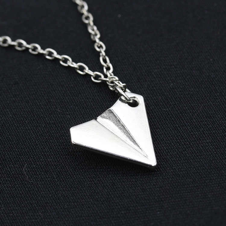 2019 Handmade Silver Color Airplane Pendant Necklace Aircraft Choker Alloy Clavicle Chain For Women Men Jewelry Brincos