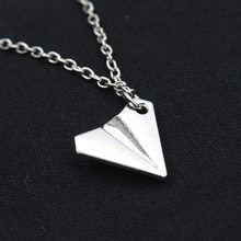 2019 Handmade Silver Color Airplane Pendant Necklace Aircraft Choker Alloy Clavicle Chain For Women Men Jewelry Brincos(China)