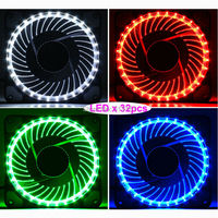 1 Piece Eclipse LED 120MM PC Computer Chassis Fan Case Heatsink Cooler Cooling DC 12V Guide