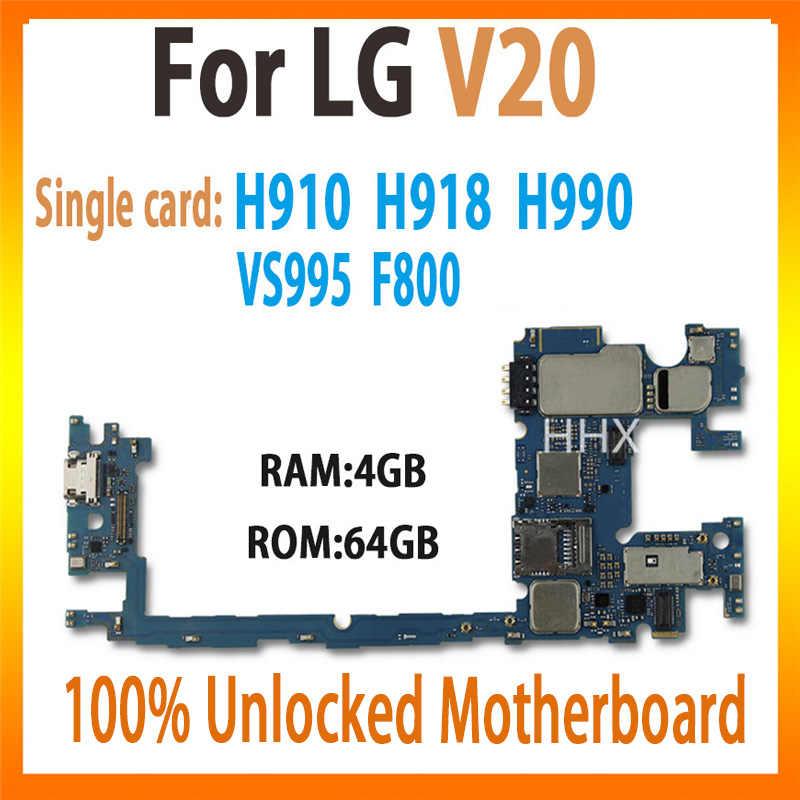 100% Asli Logic BOARD UNTUK LG V20 H910 H918 H990 VS995 F800 Papan Utama dengan Chip Unlocked Mainboard Diuji Bekerja