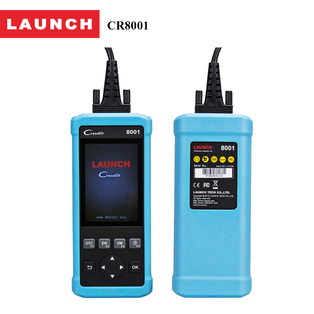 2017 Launch AirBag Code Reader CReader 8001 Obd2 diagnostics auto scanner With O2 sensor test Read MIL,Code Car/Auto Tools
