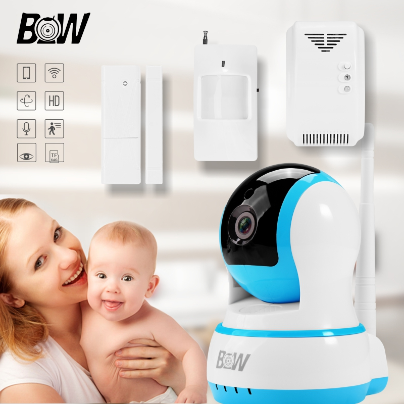 Video Surveillance Security Camera Wireless +Door Sensor/Infrared Motion Sensor/Gas Detector Monitor IR LED Wifi IP Camera BW13B video surveillance security camera wireless door sensor infrared motion sensor gas detector monitor ir led wifi ip camera bw13b