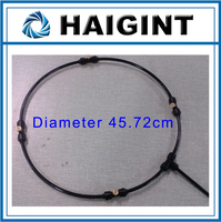 0636 Freeshipping HAIGINT Watering Irrigation Sprayers18 Low Pressure Black Outdoor Mist Cooling System Garden Spray Ring