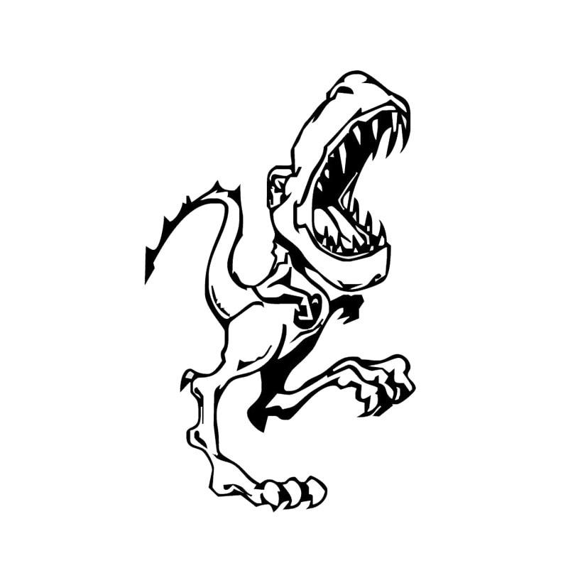 11.7*19 Cm Baby Dinosaurus Funny Bumper Auto Stickers Waterdicht Vinyl Dieren Decal Accessoires Zwart/zilver C9-1441 Moderne Technieken