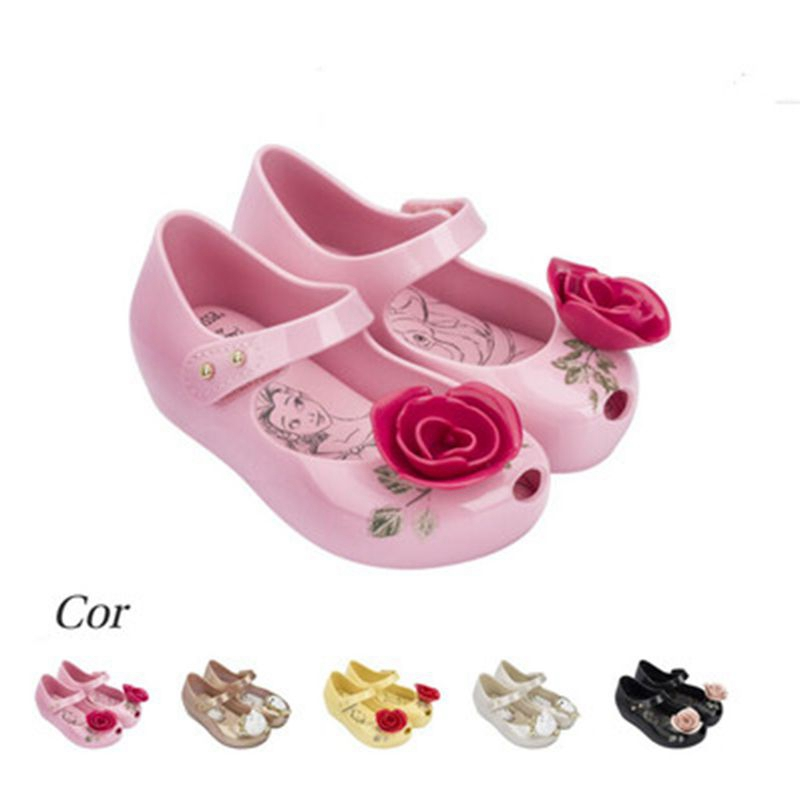 kids sandals summer Beauty Beast mini melissa Shoes boys girls Jelly Sandals high quality Princess 1-6Y non-slip Teacup Sandals