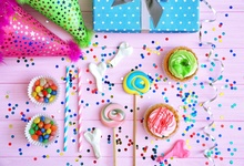 Laeacco Wooden Board Cake Candy Bar Hat Gift Baby Party Photography Background Customized Photographic Backdrop For Photo Studio