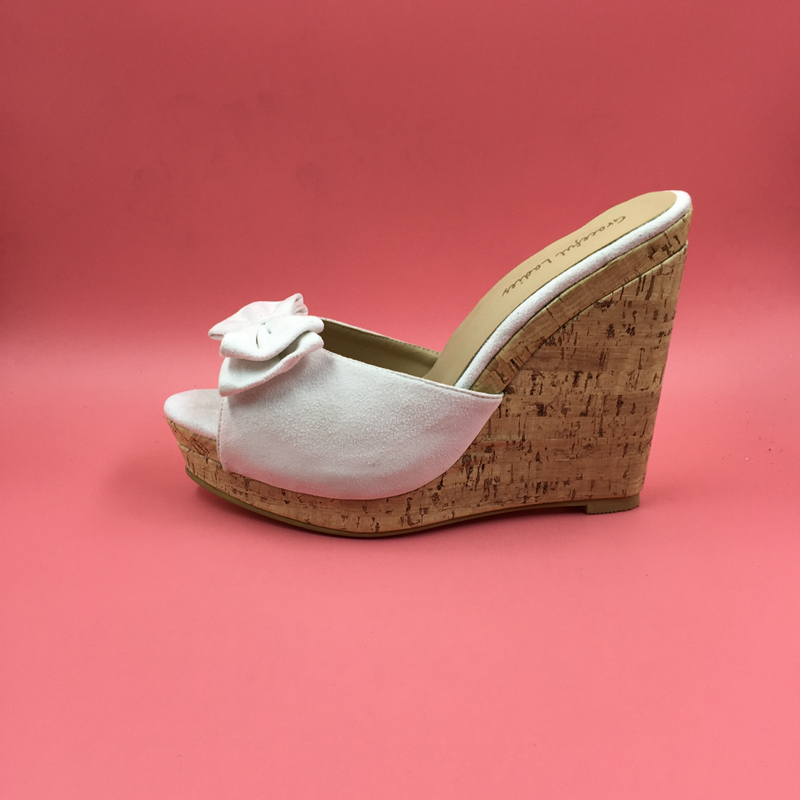 45942a1f780 Real Photo Women Slippers High Heel White Wedges Size US15 Comfortable  Slides Sandal Shoes for Sale Summer Wedges Slides-in High Heels from Shoes  on ...