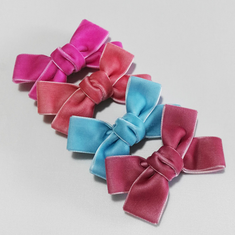 12pcs Handmade 3.8 Inches Hair Bow Alligator Hairpins Kids Fashion Hair Accessories Cute Velvet Bows for Girls Hair Clip 55 hanks white stallion violin bow hair 6 grams each hank in 32 inches