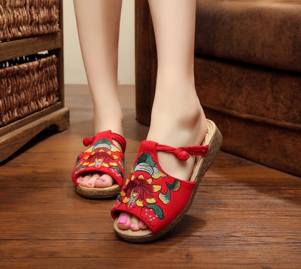 TIMETANGNewChinese Style SpringSummer Fashion Women Flat