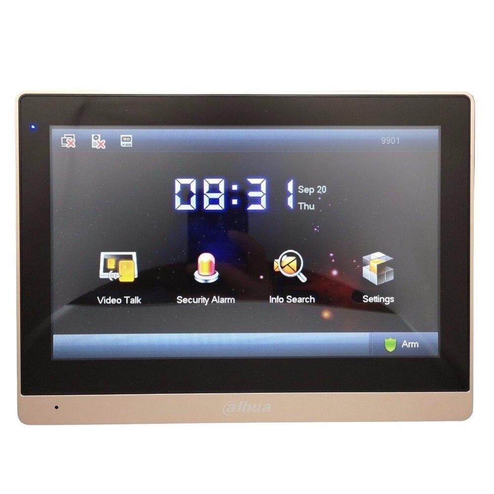 Ahua Многоязычная VTH1660CH 10-дюймовый видеодомофон сенсорный экран Цвет монитор видеонаблюдения