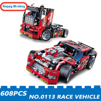 HOT 2018 Compatible With Legoingly Race Vehicle Racing Car Model 0113 Technology Series Building Blocks DIY Bricks Gifts wy30