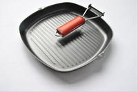Hot Sale Europe Style Steak Frying Pan Non sticky Folding Cast Iron Frying Pan Free Shipping