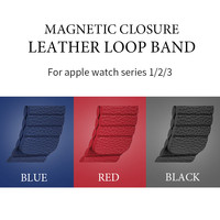 For Apple Watch Popular Magnetic Closure Leather Loop Strap 38mm 42mm For Apple Watch Series 3
