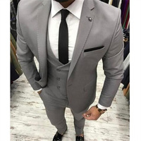 Hot selling navy blue men's suit (clothes + pants) for men's wedding best man new Lang dress casual suit