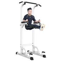 Indoor Pull Up Bar Stand 7 Height Adjustable Single Double Bar Mutifunction Sports Fitness Equipment Home Exercise 300kg Bearing