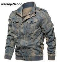 NaranjaSabor New Men's Jackets Spring Autumn Motorcycle Denim Coat Fashion Outerwear Male Cowboy Jacket Mens Brand Clothing N496
