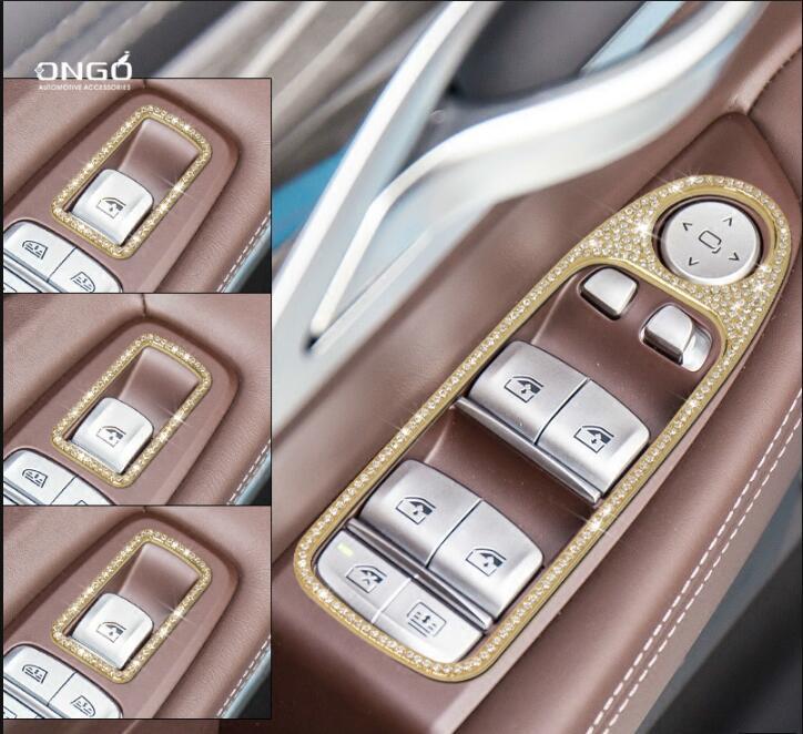 4 pièces De Fenêtre De Porte de Bouton pour BMW 7 Série 740 730 2016 2017 2018 Accessoires