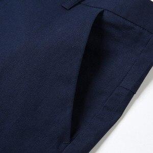 Image 4 - ผู้ชายสบายๆกางเกงผ้าฝ้าย 98% 2% Spandex ฤดูใบไม้ผลิฤดูร้อนฤดูใบไม้ร่วงสีขาวแฟชั่นชายหนุ่มความยาวเต็มรูปแบบยาว Chino Slim Man กางเกง