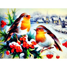 DIY diamond painting birds animals in winter dimaond embroidery full drill mosaic set Moge