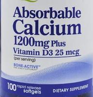 Pride Absorbable Calcium 1200 mg with Vitamin D3 25 mcg Promotes bone health Promotes muscle&nerve function