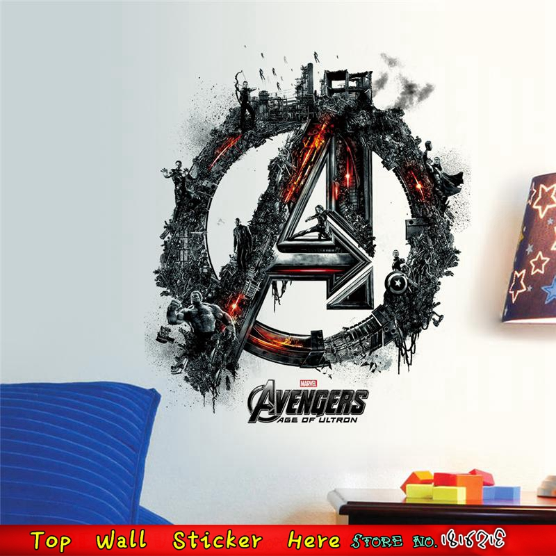 Superheros Wallpaper Movie Poster Avengers Age Of Ultron Marvel Wall Sticker For Kids Room Decor Mural Art Home Decals