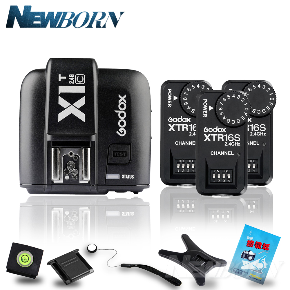 Godox X1T C TTL 2 4G Wireless Trigger for Canon 3x XTR 16S Flash Receiver for