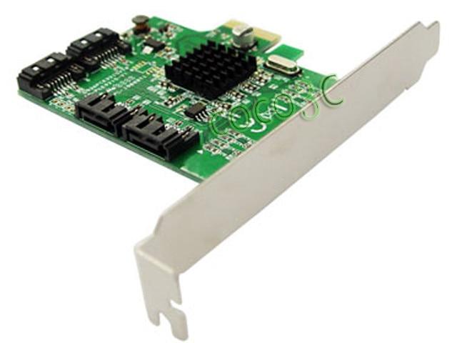 Marvell 88SE9215 ערכת השבבים 4 יציאות SATA 6G PCI Express בקר כרטיס PCI-e SATA III 3.0 ממיר PCI פרופיל נמוך הסוגר
