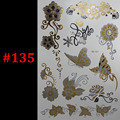 Gold silver Butterfly rose jewelry sticker tattoo metallic golden flash tattoos tattoo large temporary tattoo prices sticker