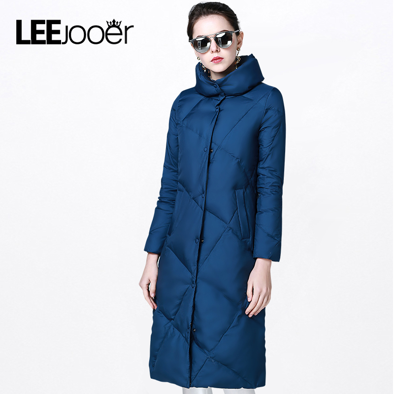 ФОТО LEEJOOER 2017 Spring Jacket Women Winter Coat Fashion Long Coat Parkas Thickening Female Cotton Padded Slim Warm Jacket Overcoat