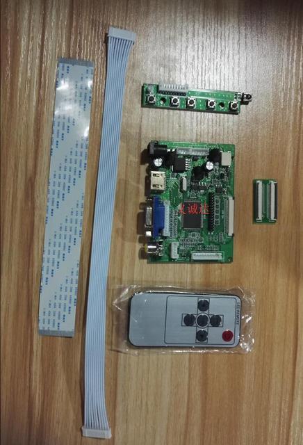 Universal HDMI VGA 2AV 50PIN TTL LVDS Controller Board Module Monitor Kit  for Raspberry PI LCD AT070TN90 v 1 Panel freeship
