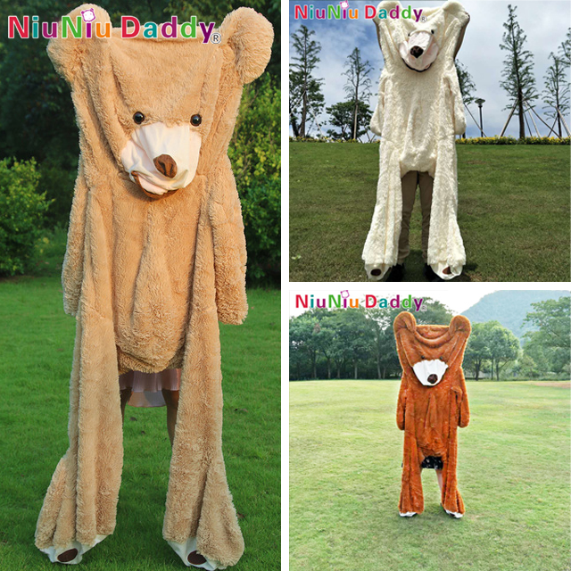 Niuniu Daddy 80cm to 260cm Giant Teddy Bear Skin American Bear Plush Toy USA Bear Plush Bearskin unstuffed ტყავი