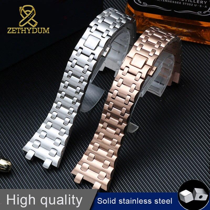 Bracelet de haute qualité en acier inoxydable 316l bracelet de montre 28mm pour ap montre bracelet montres ceinture avec vis bracelet de montre en métal