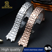 High quality 316l stainless steel bracelet 28mm watch band for ap watch strap wristwatches belt with screw metal watchband