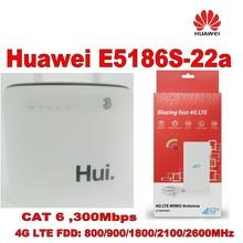 100% original unlock 300M huawei e5186s-22a 4g lte cpe super wifi router+49DBI Gain LTE Mimo Antenna цена в Москве и Питере