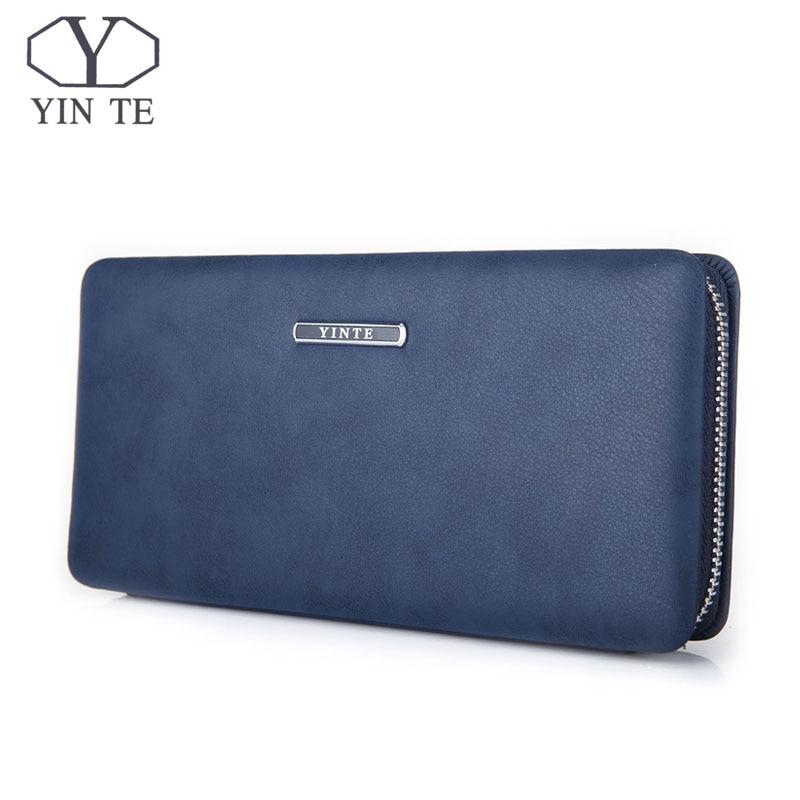 YINTE Phone Wallet Leather Vintage Solid Clutch Bag Brand Mens Wallet One Zipper Genuine Leather Bag T1605YINTE Phone Wallet Leather Vintage Solid Clutch Bag Brand Mens Wallet One Zipper Genuine Leather Bag T1605
