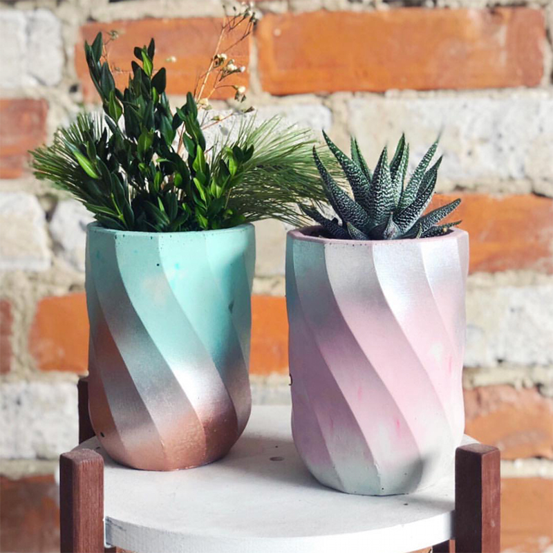 Origami Art Design Flowerpot Concrete Silicone Mould Gardening Succulent Plant Galaxy Cement Vase Mold Home Decor