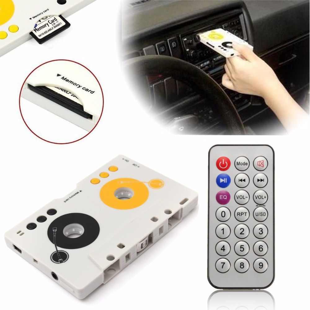 2018 ポータブルヴィンテージ車カセット SD MMC MP3 テーププレーヤーアダプタキットリモコンステレオオーディオカセットプレーヤー