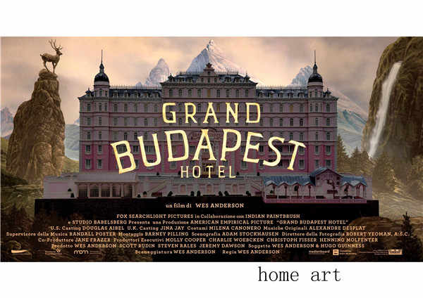 Grand Hotel Budapest Poster Clear Image Wall Stickers Home Decoration Good Quality Prints White Coated Paper Wall Stickers Aliexpress