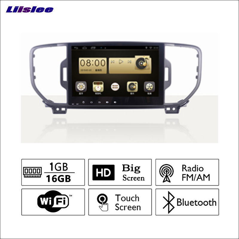 Liislee автомобиля Радио GPS аудио видео мультимедийный плеер wiifi DVR навигации Android Системы без CD DVD для KIA kx5 2016
