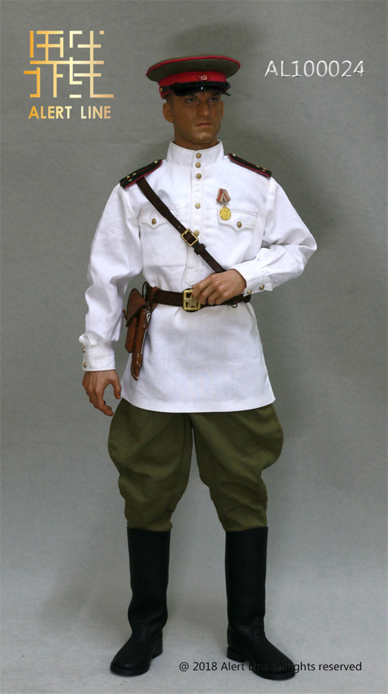 ALERT LINE 1//6TH SCALE WW2 RUSSIAN RED ARMY OFFICER RAINCOAT AL100024
