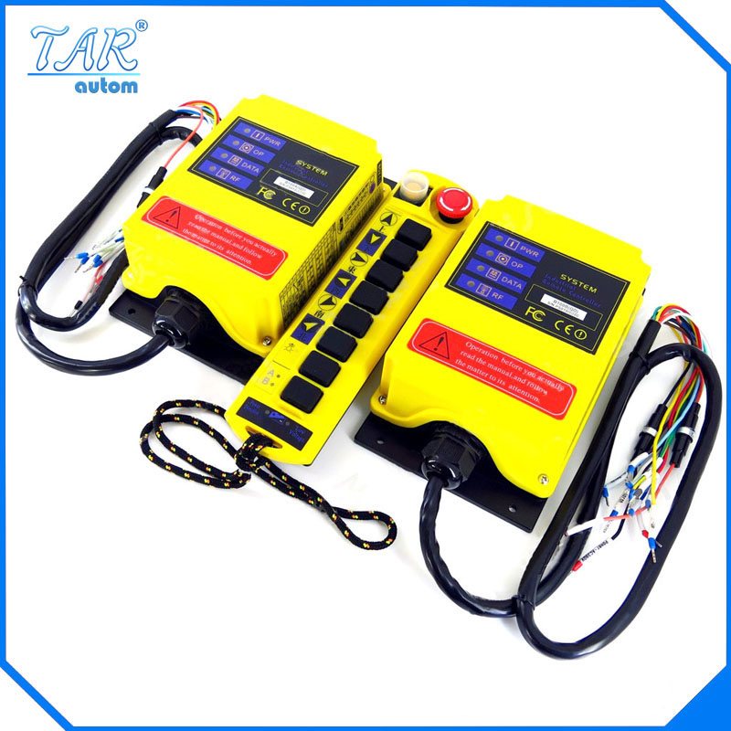 B100AB QD dual beam crane industrial wireless remote control of a second received AC DC 2